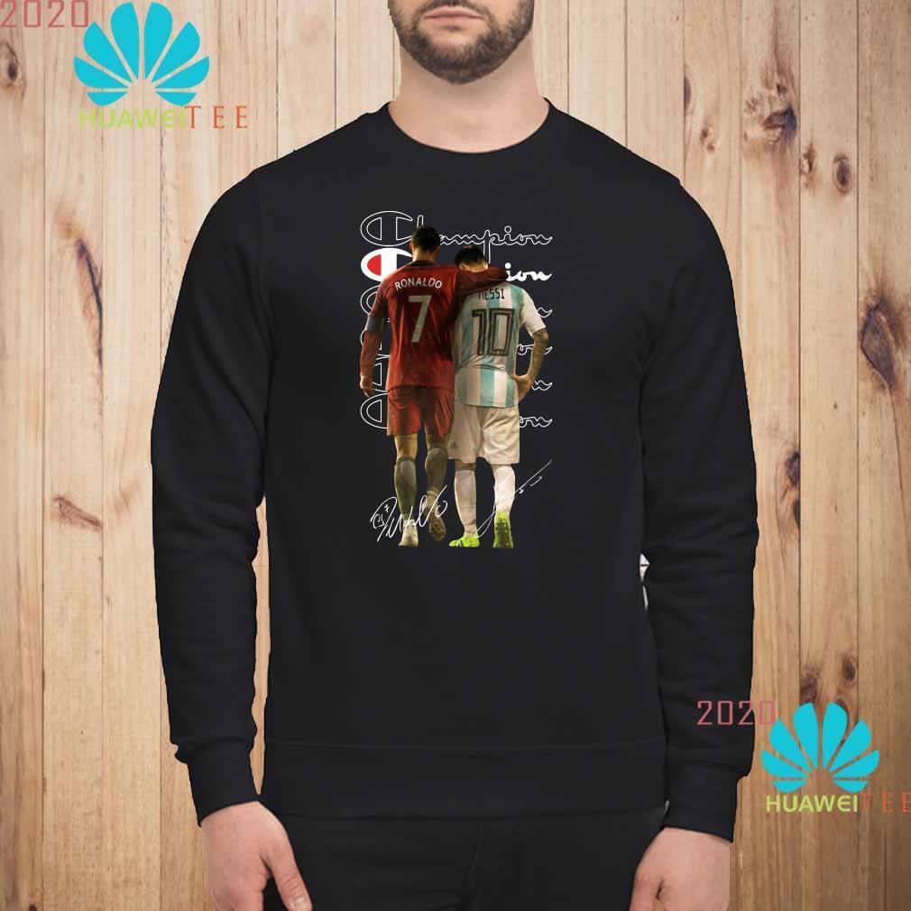 Ronaldo and Messi Champion signatures sweatshirt
