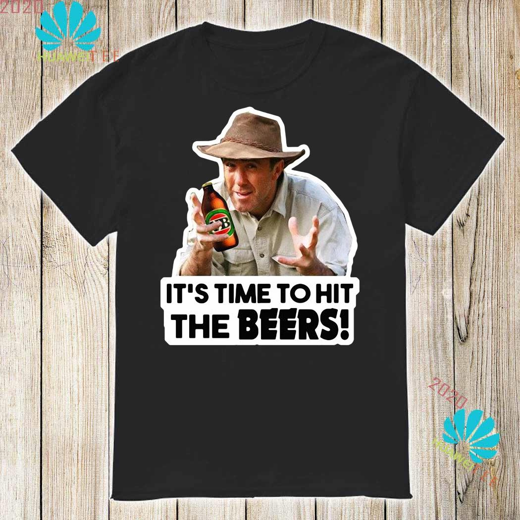 Time To Hit The Beers Fridge Magnet Russell Coight