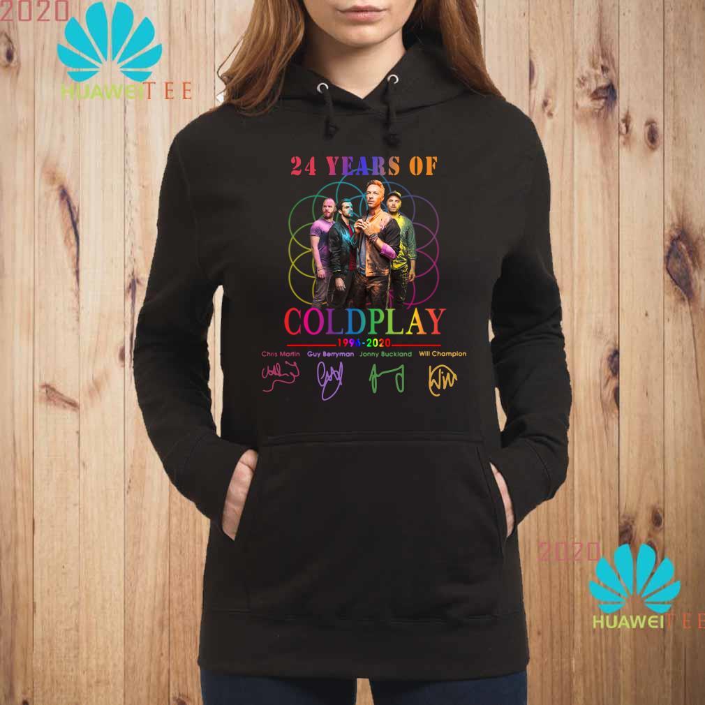 24 Years Of Coldplay 1996-2020 Signatures Hoodie