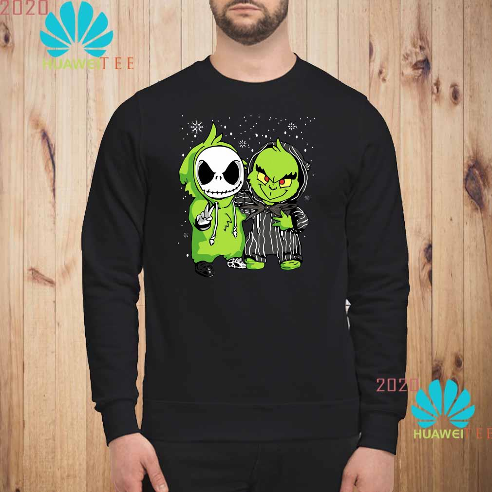 Baby Grinch And Jack Skellington Christmas Sweatshirt