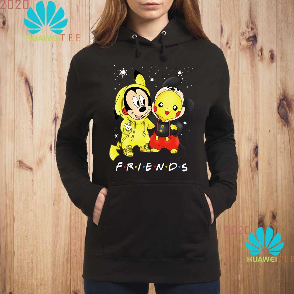 Baby Mickey Mouse And Pikachu Friends Christmas Hoodie