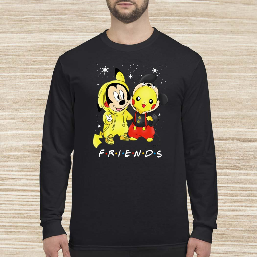 Baby Mickey Mouse And Pikachu Friends Christmas Long-sleeved