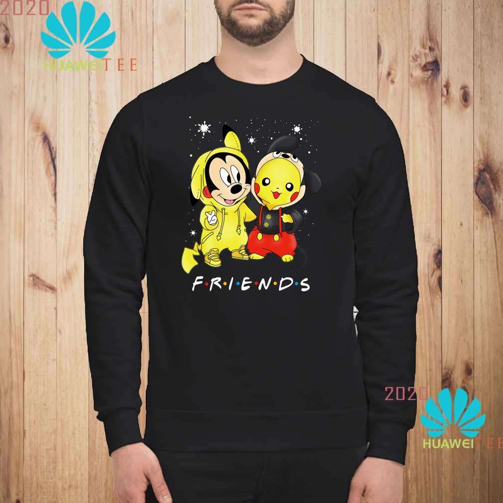 Baby Mickey Mouse And Pikachu Friends Christmas Sweatshirt