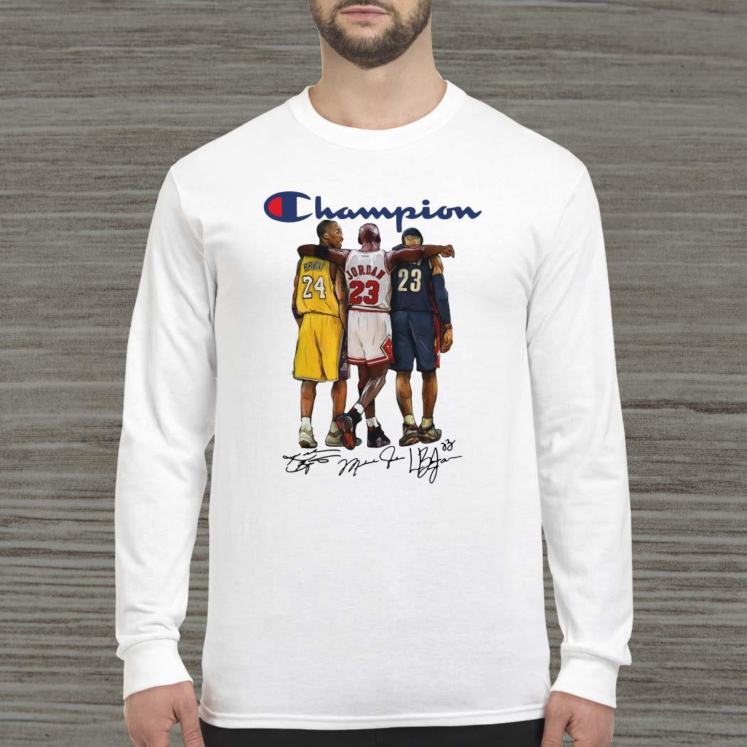 Champion Lebron James Kobe Bryant Michael Jordan Signatures Long-sleeved