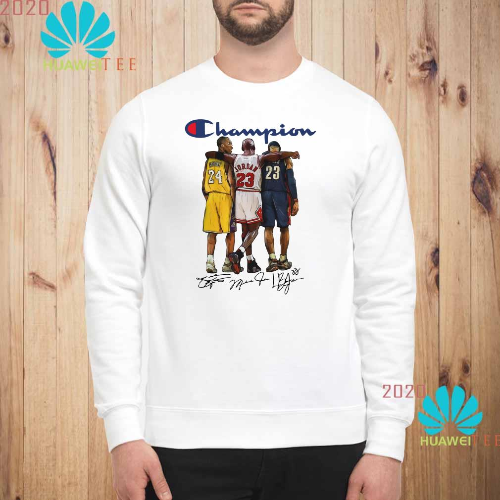 Champion Lebron James Kobe Bryant Michael Jordan Signatures Sweatshirt
