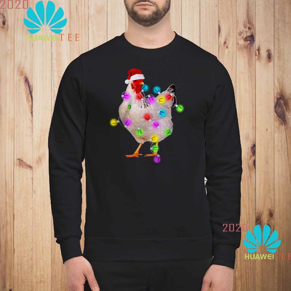 Chicken Christmas Lights Sweatshirt