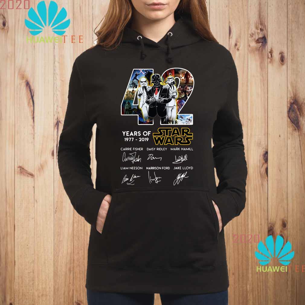 Death Star Darth Vader Stormtrooper 42 Years Of Star Wars Signatures Hoodie