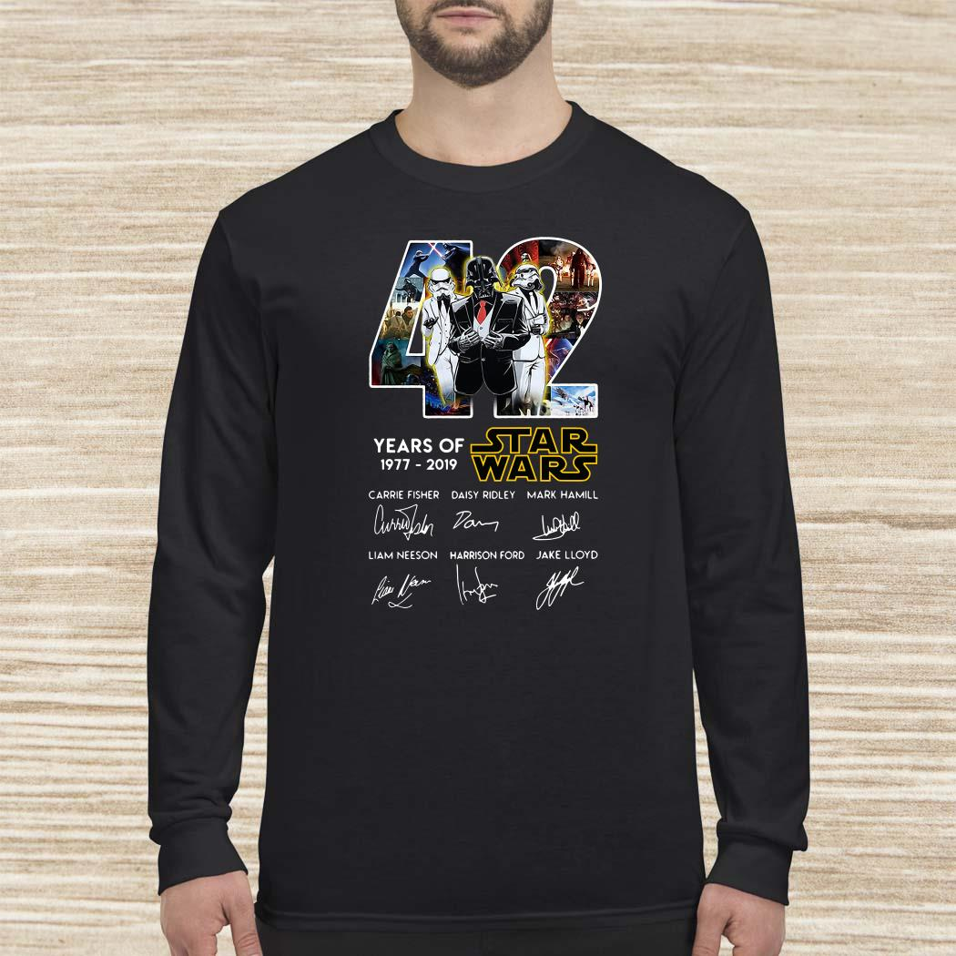 Death Star Darth Vader Stormtrooper 42 Years Of Star Wars Signatures Long-sleeved