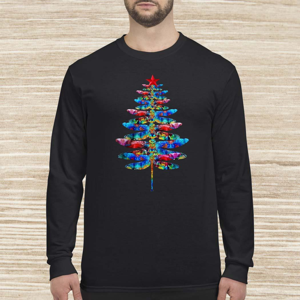 Dragonflies Christmas Tree Long-sleeved