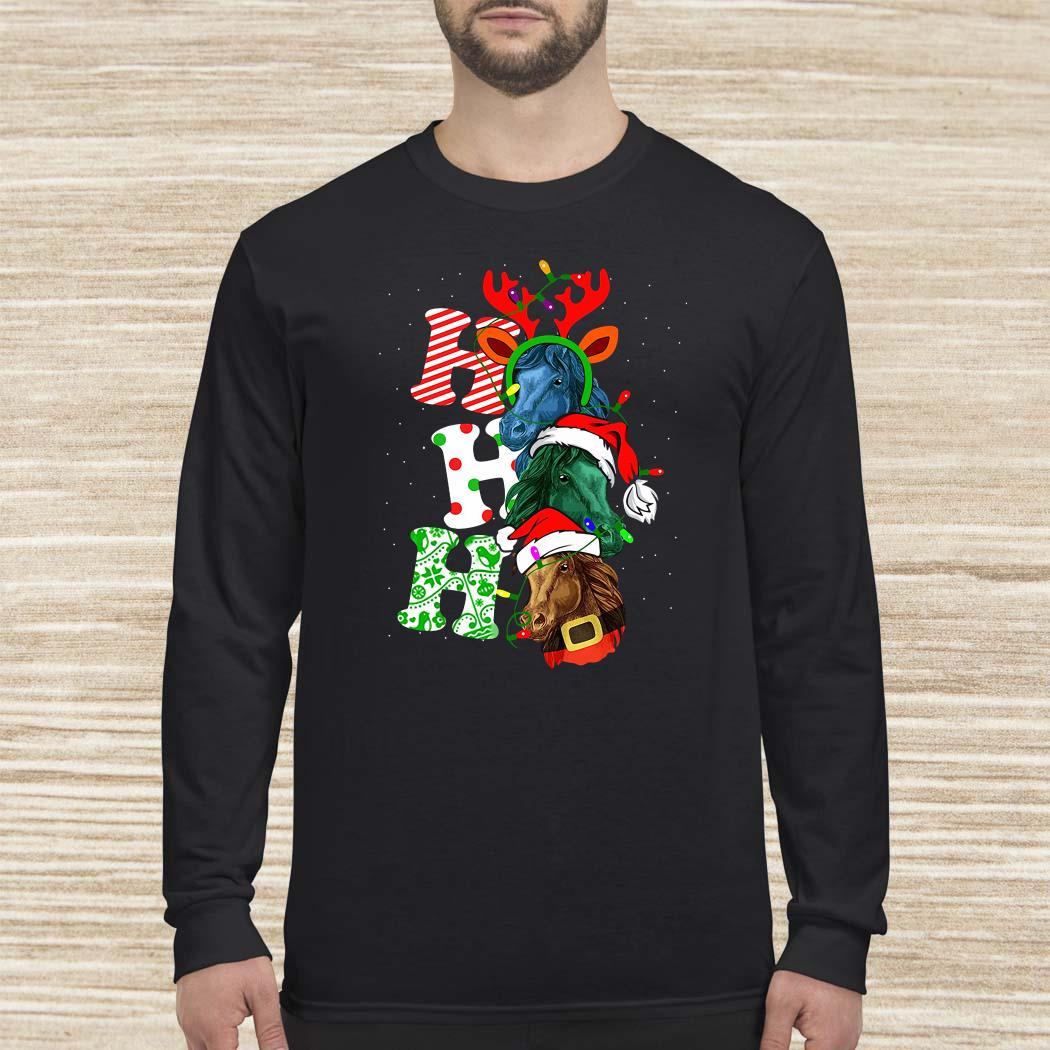 Ho Ho Ho Horse Christmas Long-sleeved