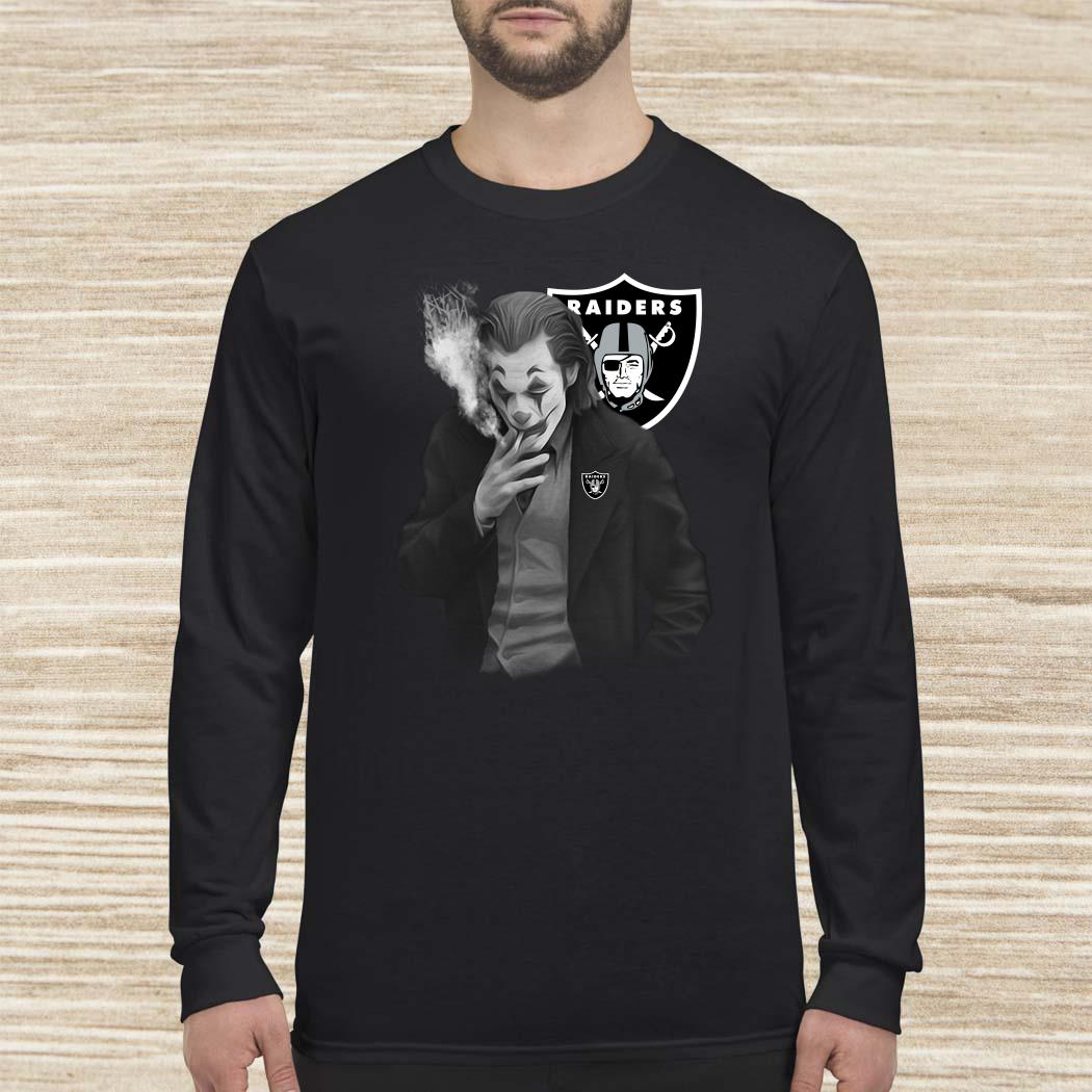 Joker Joaquin Phoenix Oakland Raiders Long-sleeved