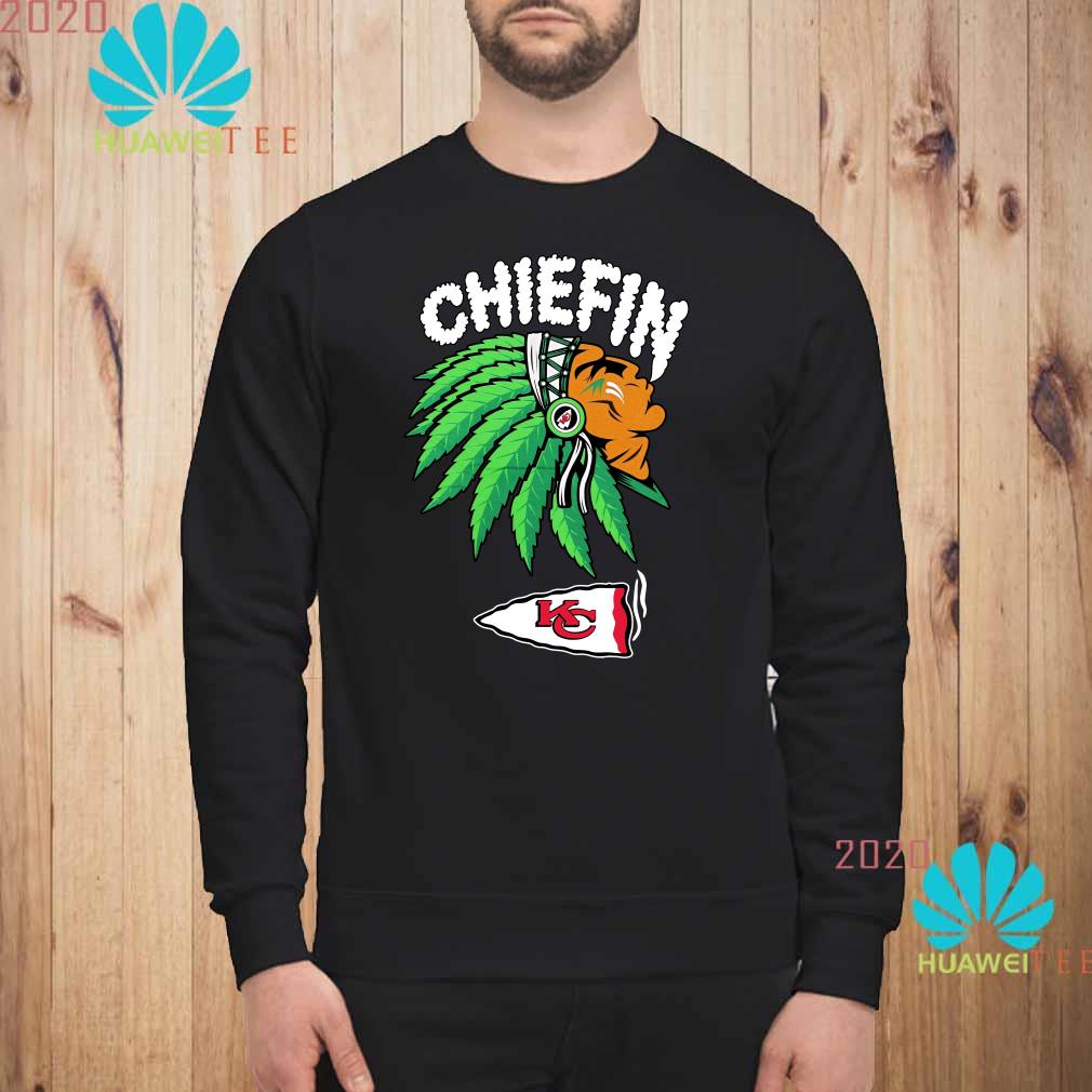 Kansas City Chiefs Chiefin Weed Smoking Indian Sweatshirt