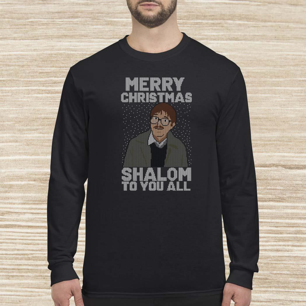 Merry Christmas Shalom To You All Long-sleeved