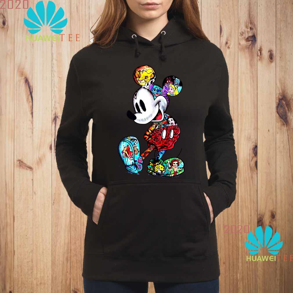 Mickey Mouse With Disney Tattoos Hoodie