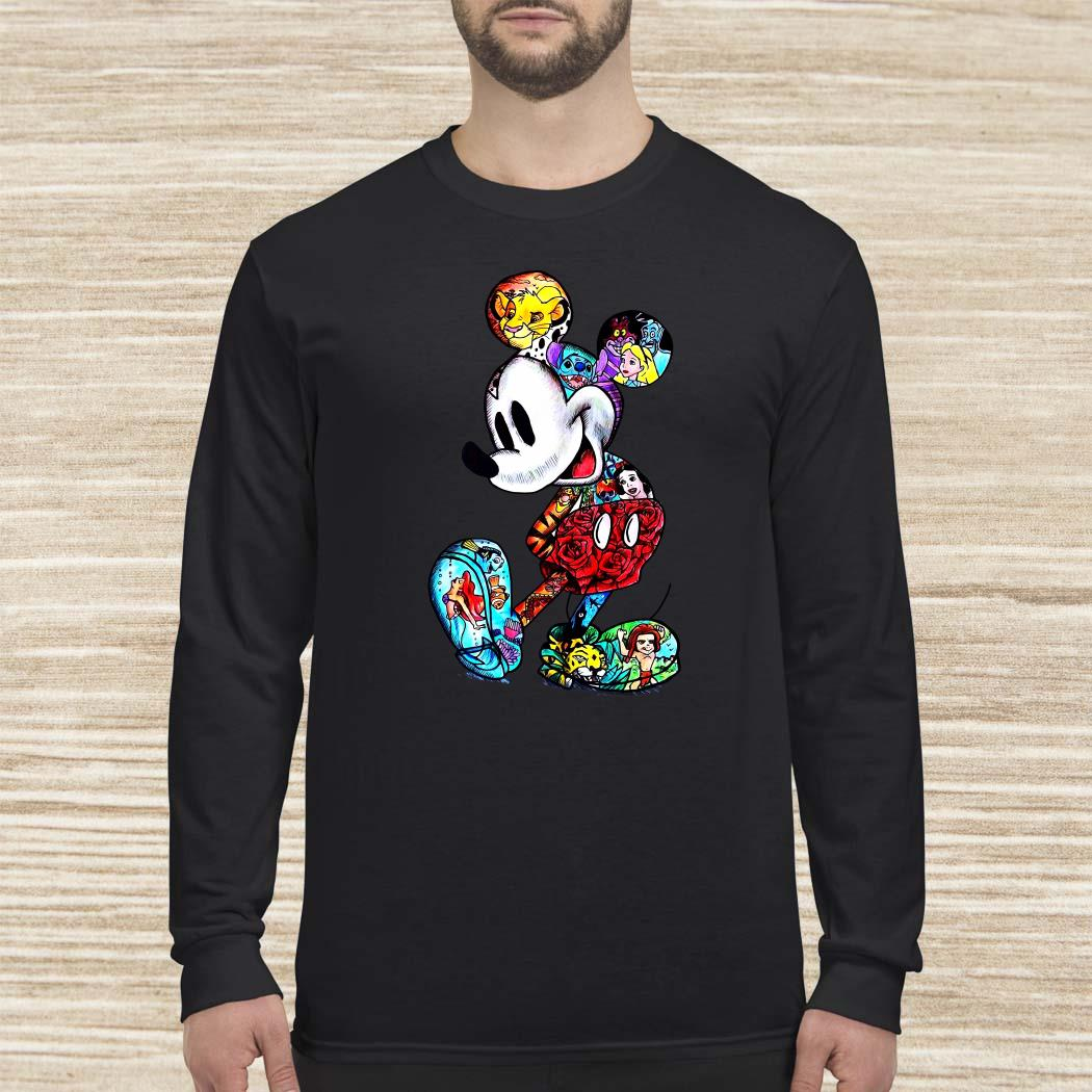 Mickey Mouse With Disney Tattoos Long Sleeved