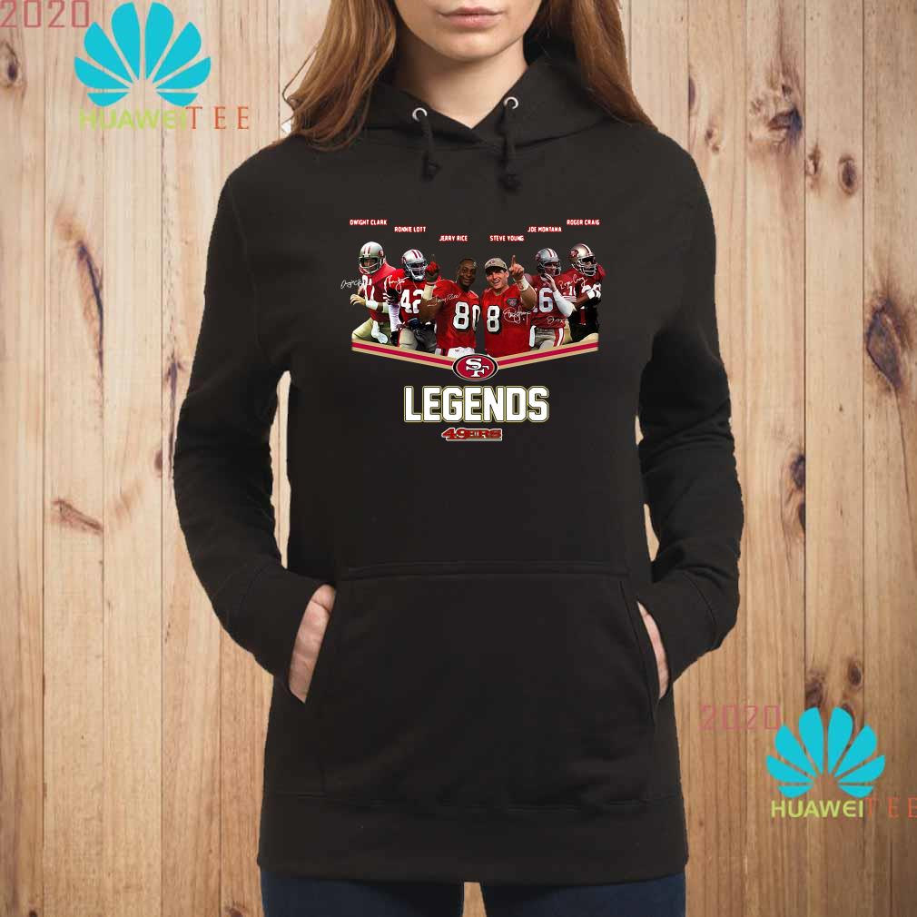 San Francisco 49ers Legends Team Player Signatures Hoodie