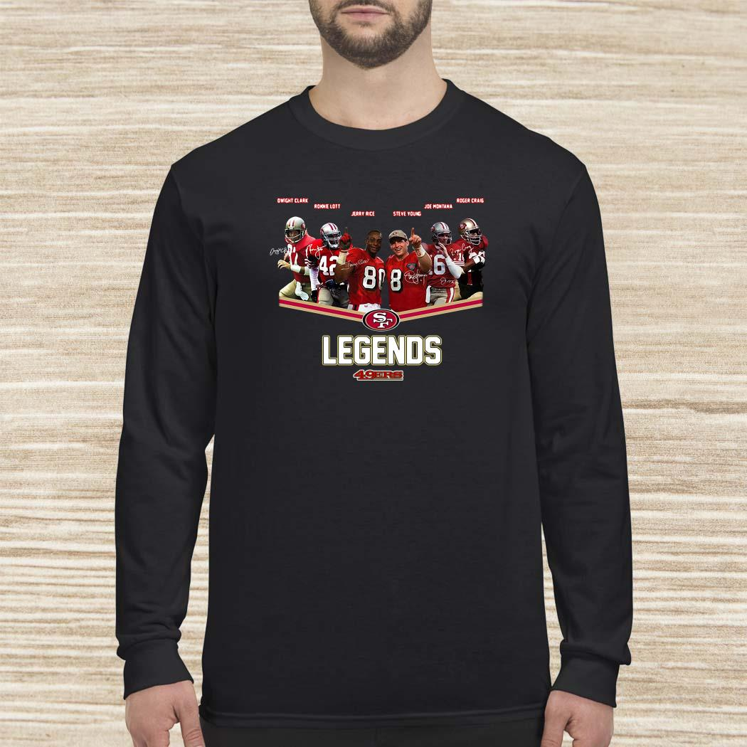 San Francisco 49ers Legends Team Player Signatures Long Sleeved