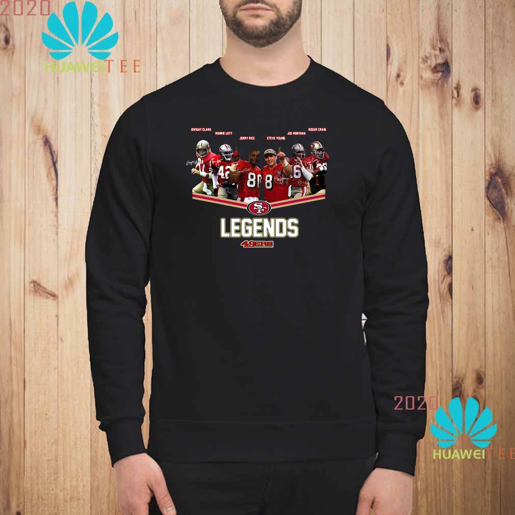 San Francisco 49ers Legends Team Player Signatures Sweater