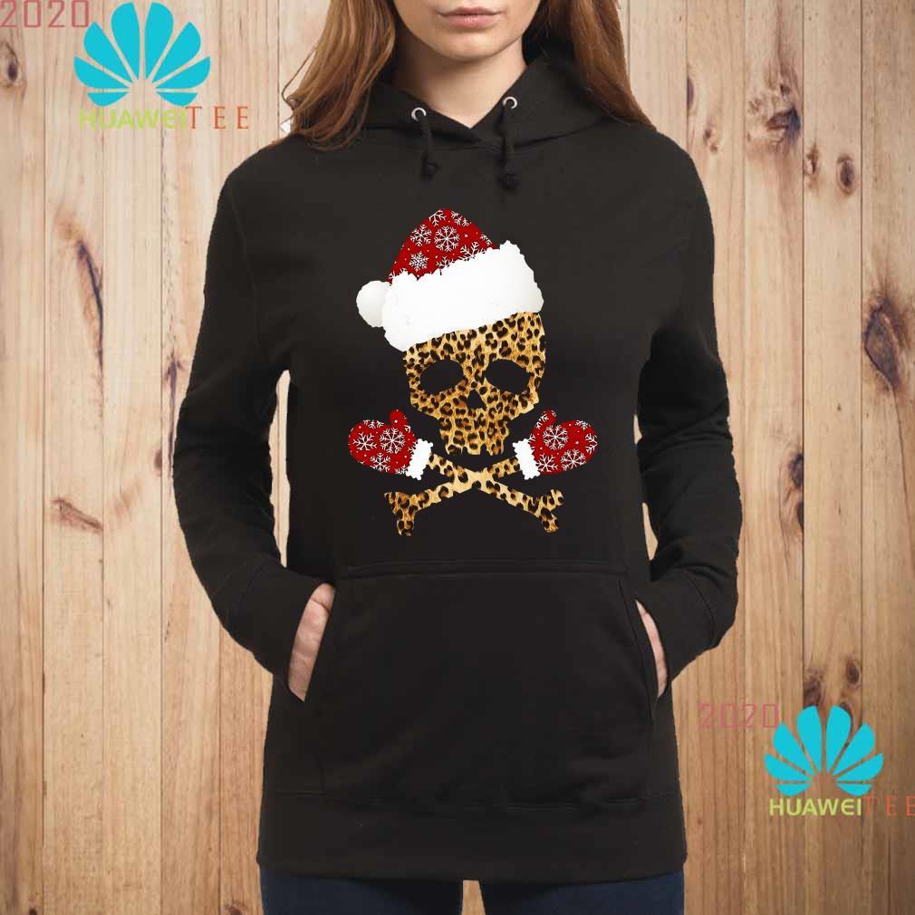 Santa Skull Leopard Christmas Hoodie