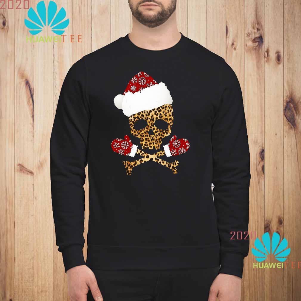 Santa Skull Leopard Christmas Sweater