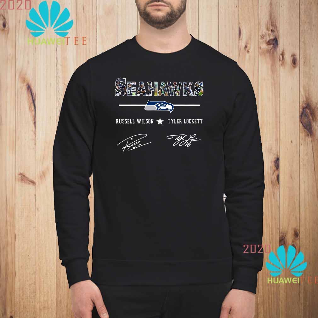 Seattle Seahawks Russell Wilson Tyler Lockett Signature Sweatshirt