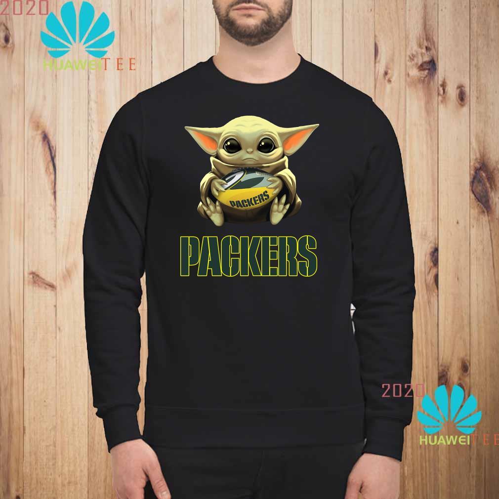 Baby Yoda Hug Green Bay Packers Shirt Sweater Hoodie And Ladies Shirt