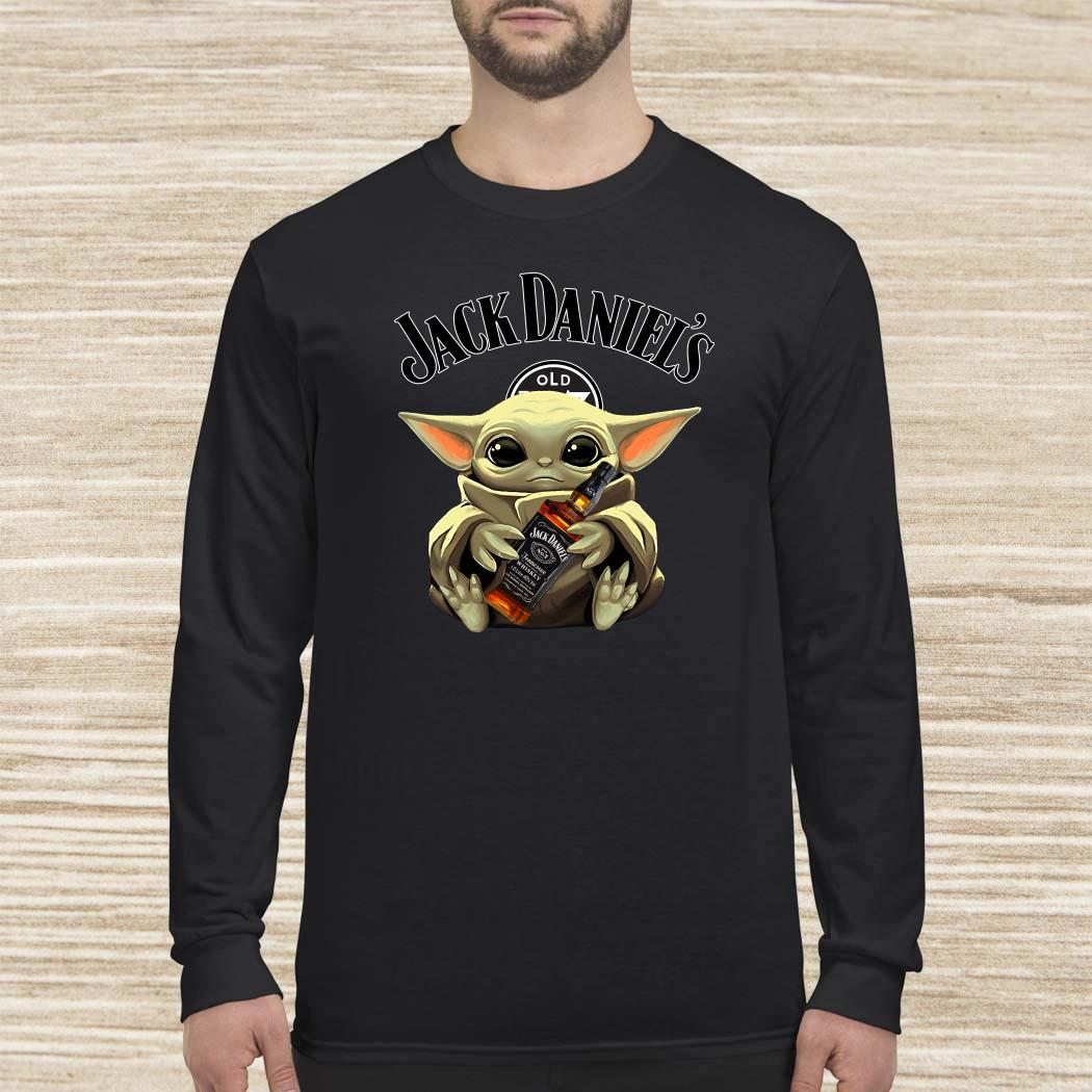 Baby Yoda Hug Jack Daniel's Whiskey Long-sleeved