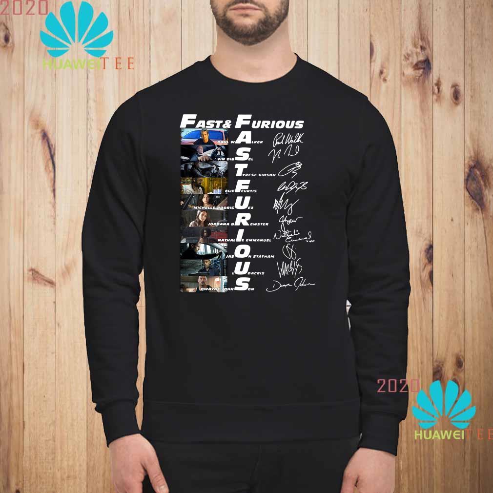Fast And Furious Paul Walker Vin Diesel Tyrese Gibson Signatures Sweatshirt