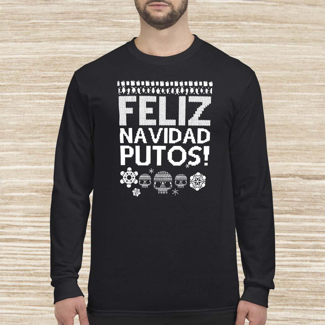 Feliz Navidas Putos Ugly Christmas Long-sleeved