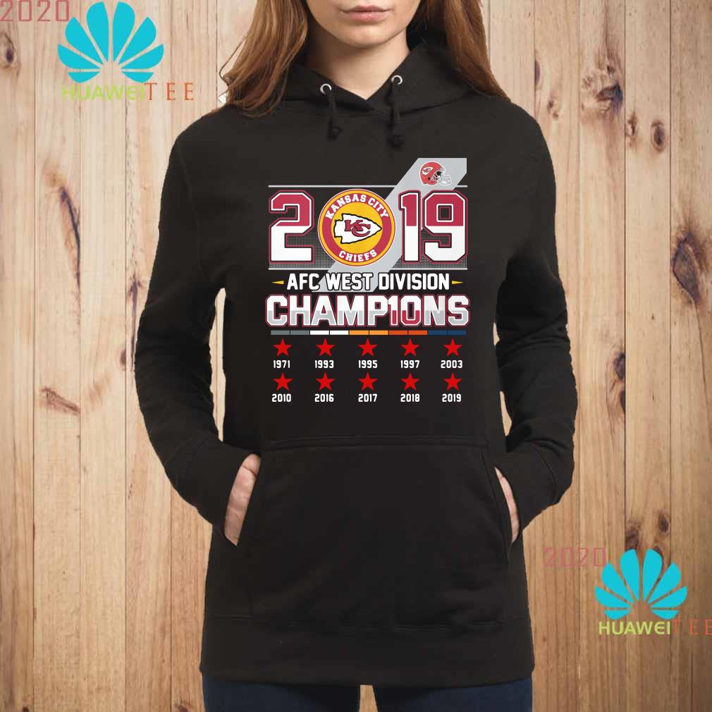 Kansas City Chiefs 2019 AFC West Division Champions Hoodie