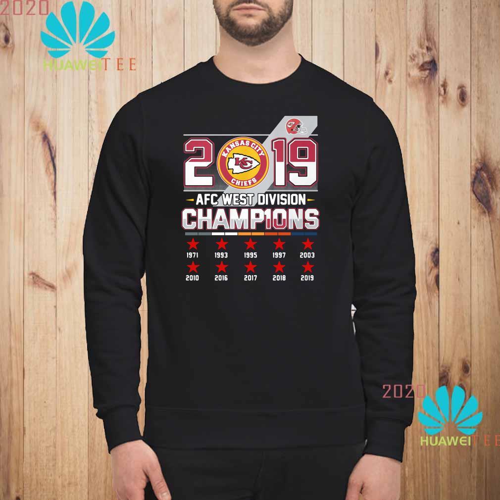 Kansas City Chiefs 2019 AFC West Division Champions Sweatshirt