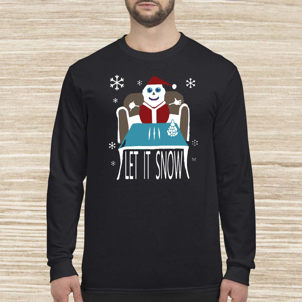 Walmart Cocaine Santa Let It Snow Long-sleeved