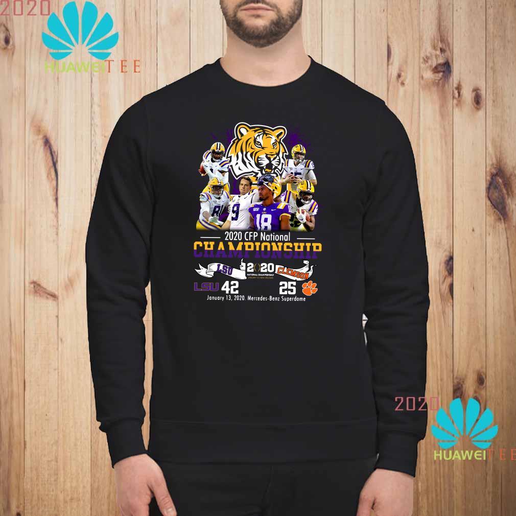 2020 CFP National Championship LSU 42 Clemson 25 Sweatshirt