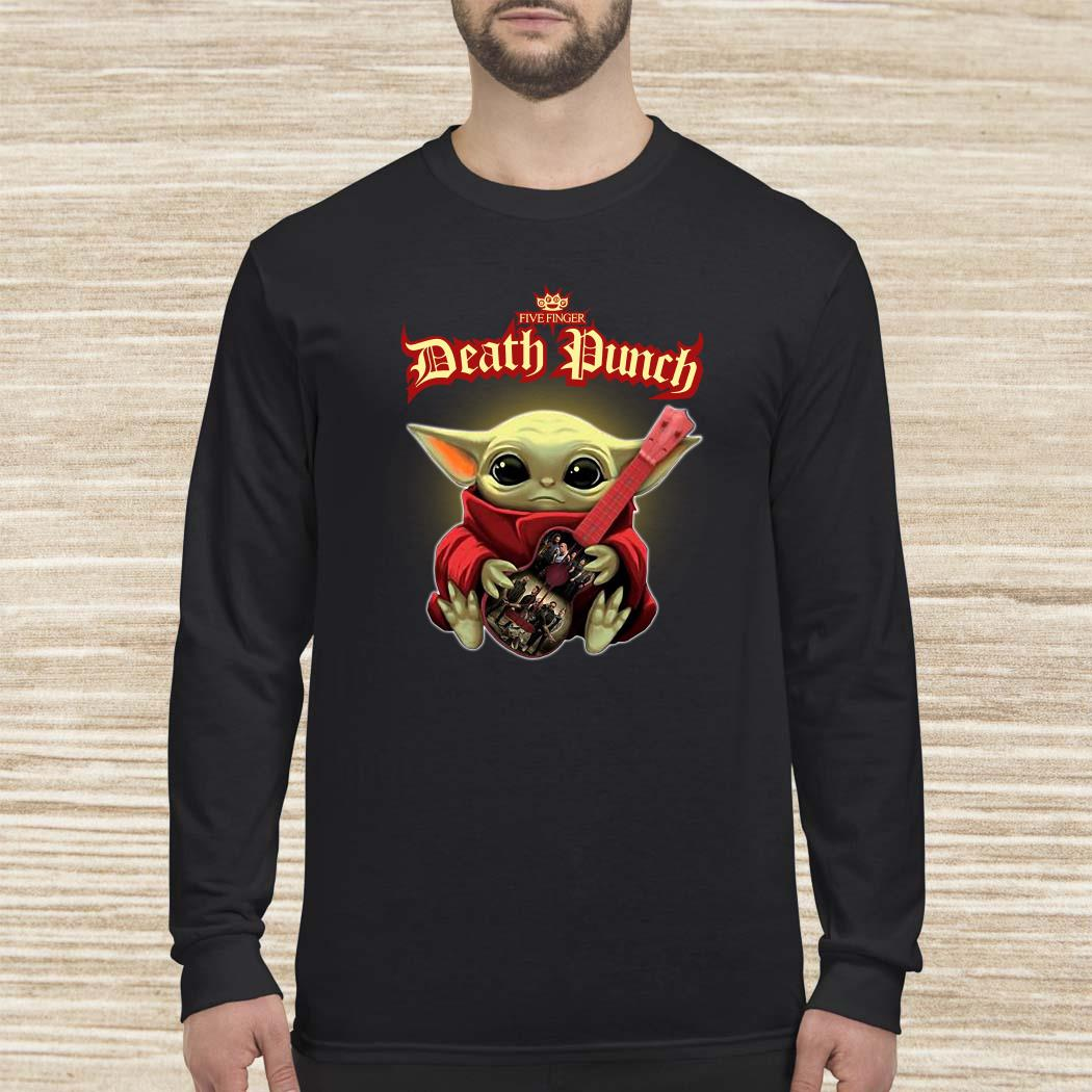 Baby Yoda Hug Five Finger Death Punch Guitar Long-sleeved