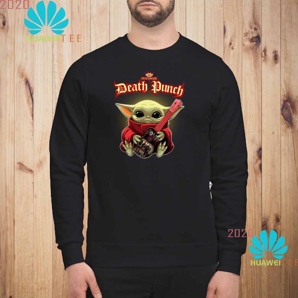 Baby Yoda Hug Five Finger Death Punch Guitar Sweatshirt