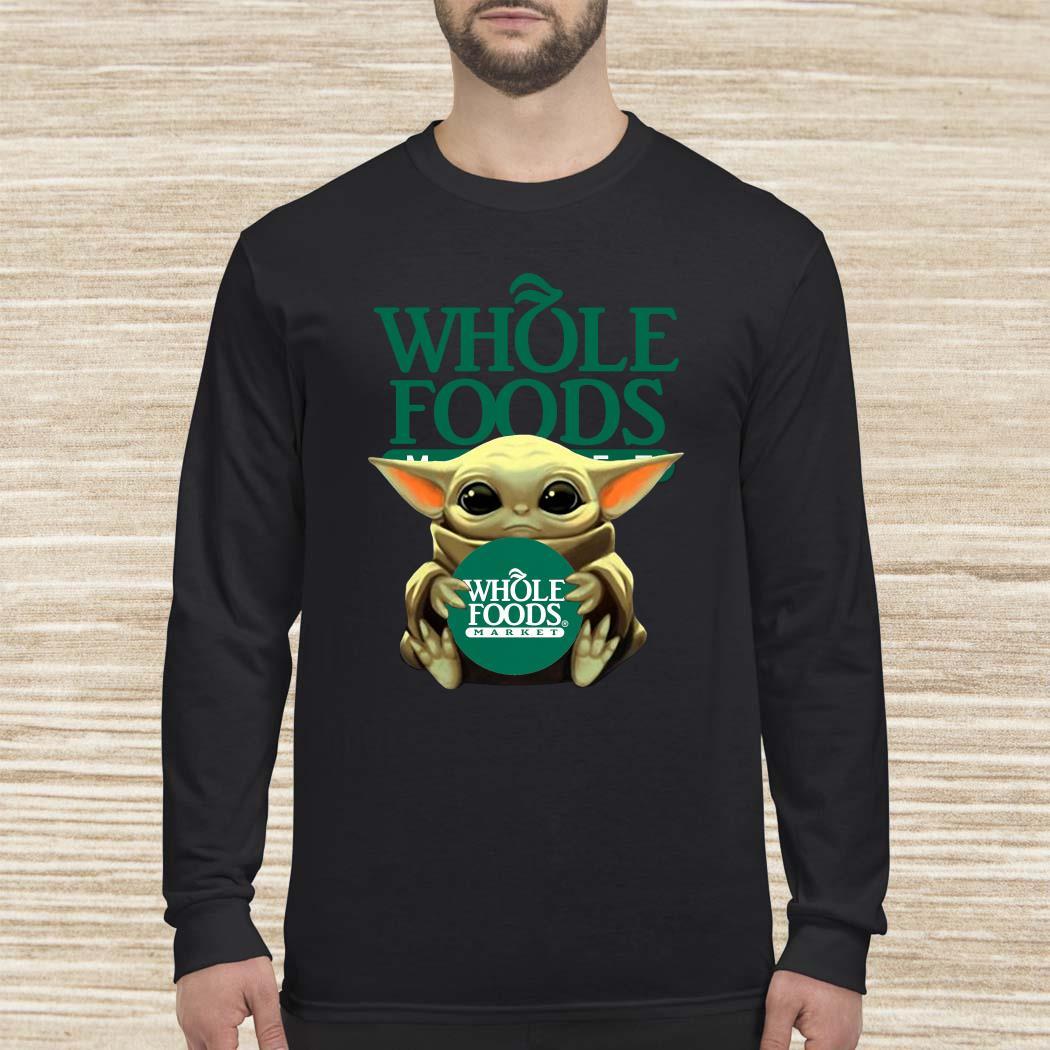 Baby Yoda Hug Whole Foods Market Long-sleeved