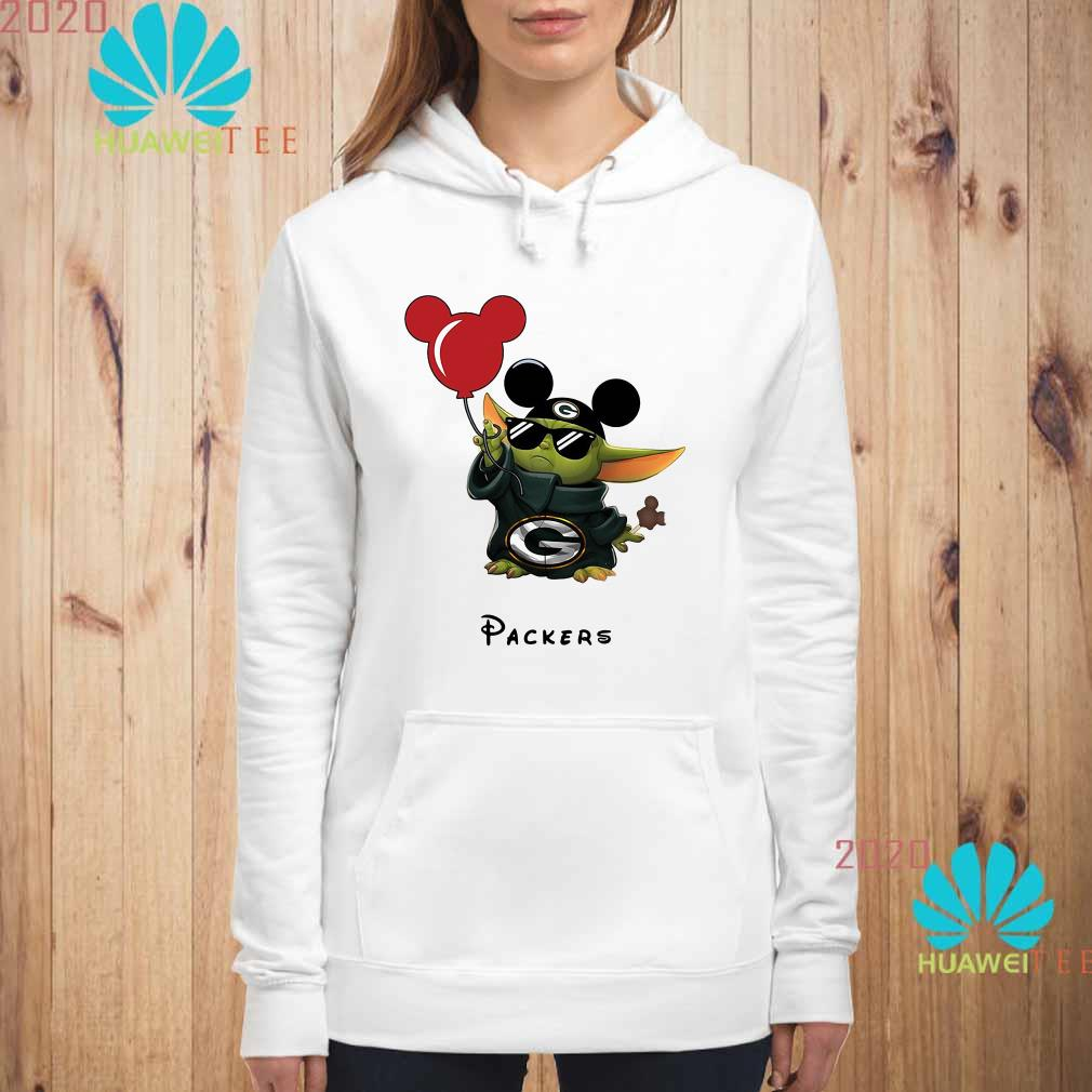 Baby Yoda Mickey Mouse Green Bay Packers Hoodie