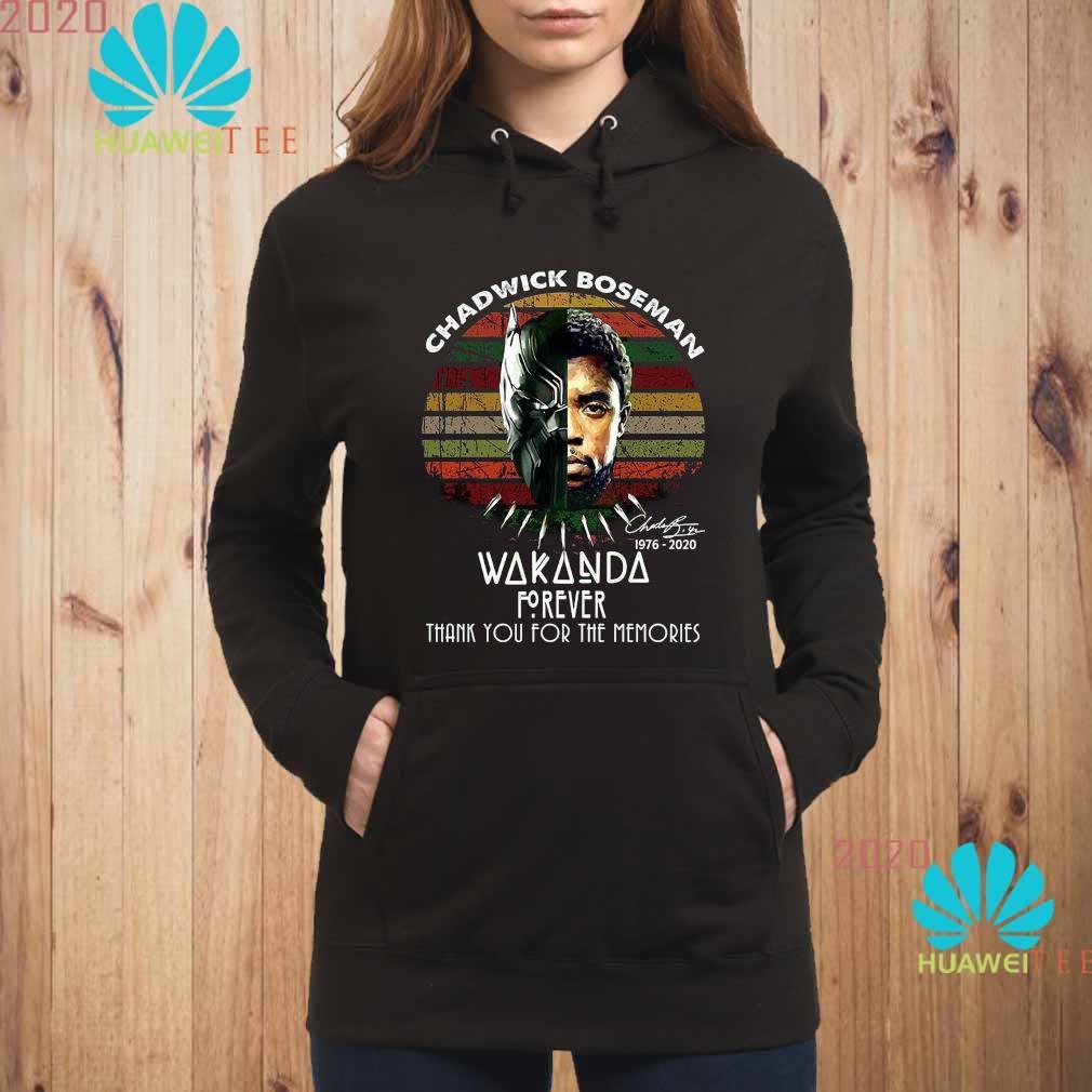 Chadwick Boseman 1976 2020 Wakanda Thank You For The Memories Vintage Shirt hoodie