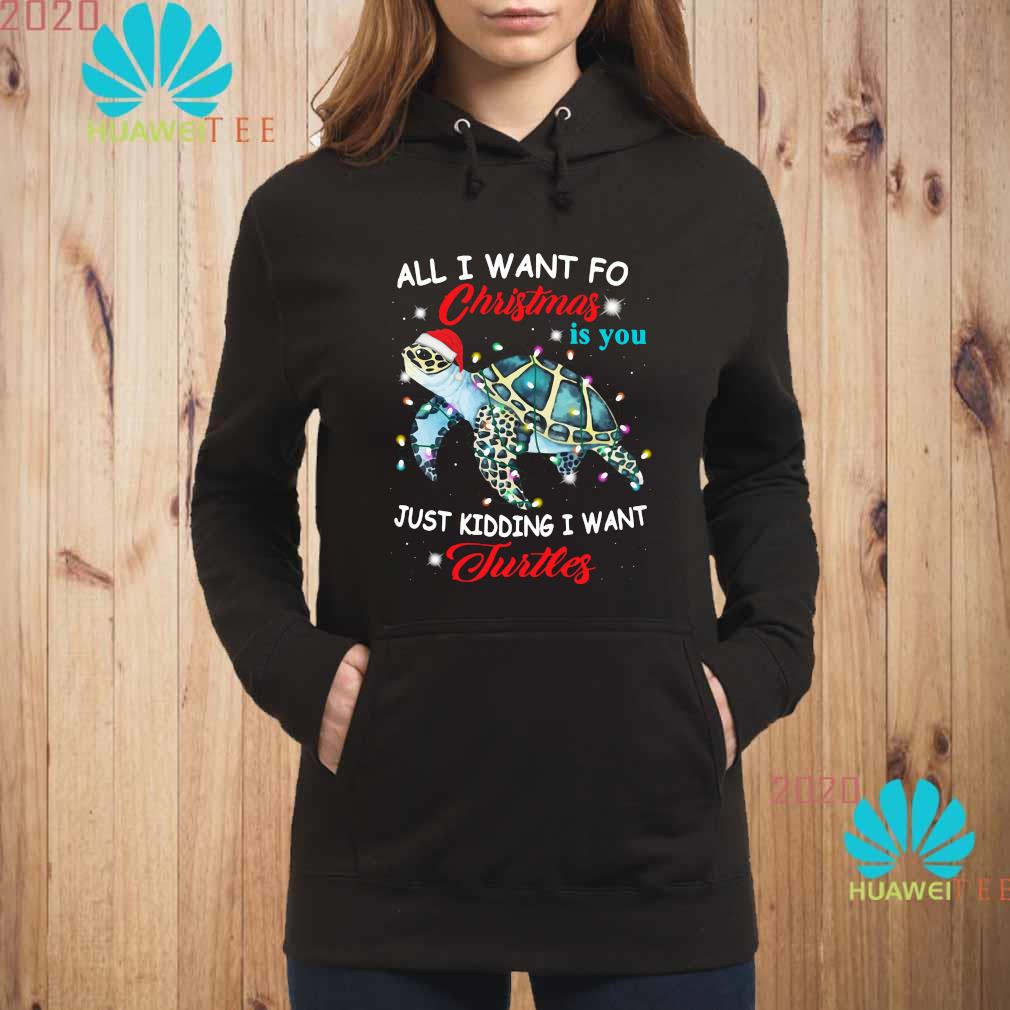 All I Want For Christmas Is You Just Kidding I Want Turtles Shirt hoodie
