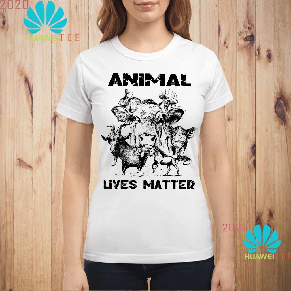 Animal Lives Matter Shirt ladies-shirt