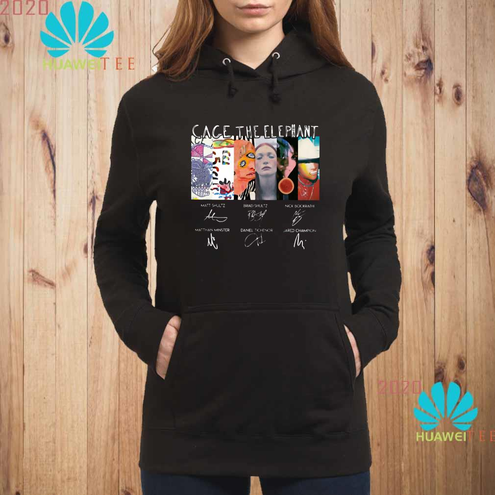 Cage The Elephant Signatures Shirt hoodie