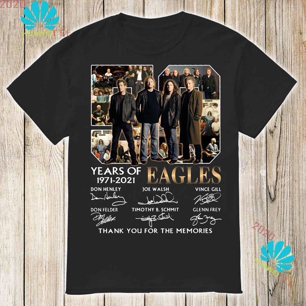 Eagles 50 Years Of 1971 2021 Thank You For The Memories Signatures Shirt