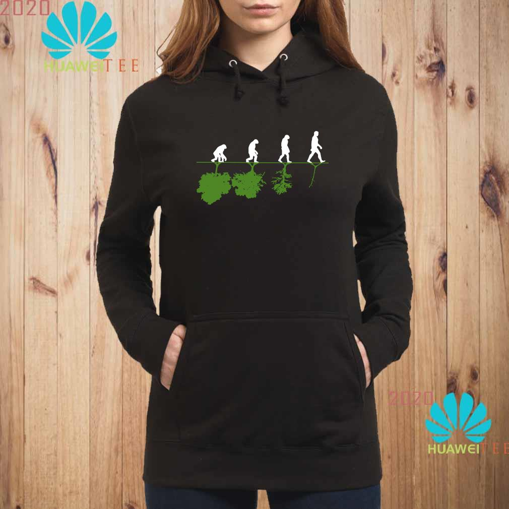 Evolution Humans And Trees Shirt hoodie