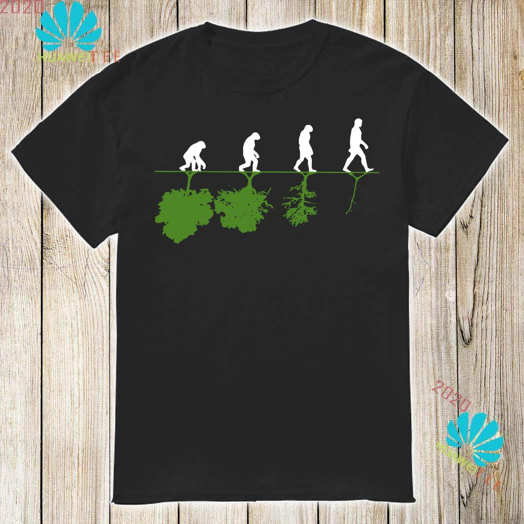 Evolution Humans And Trees Shirt