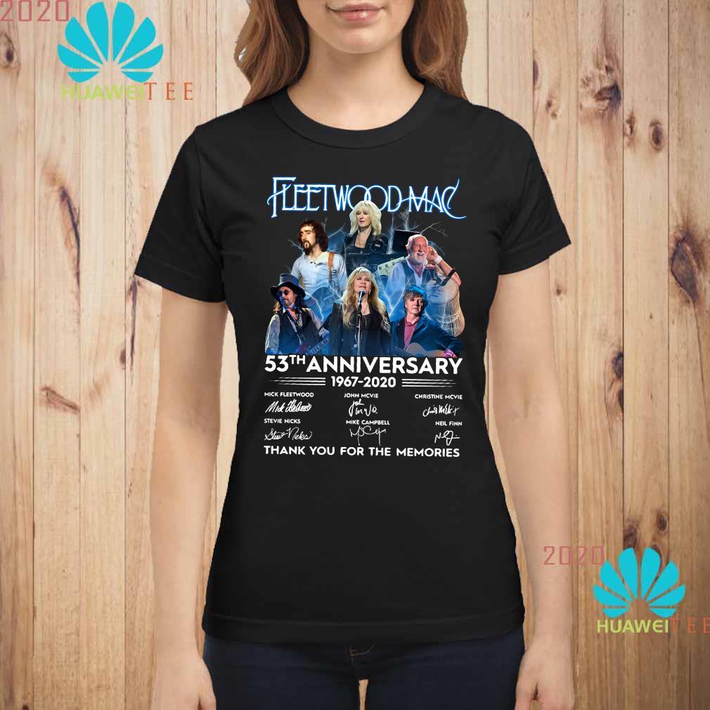 Fleetwood Mac 53th Anniversary 1967 2020 Thank You For The Memories Shirt ladies-shirt