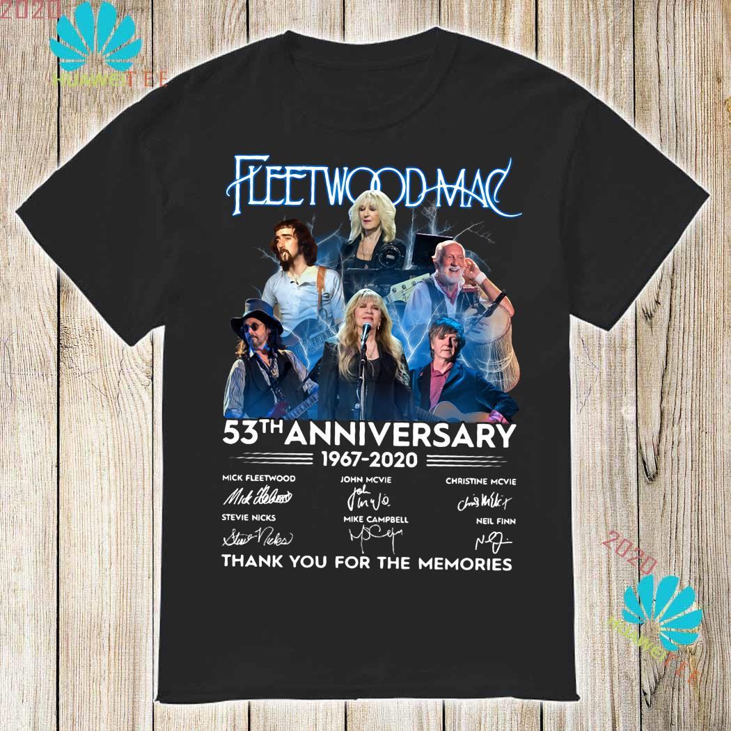 Fleetwood Mac 53th Anniversary 1967 2020 Thank You For The Memories Shirt