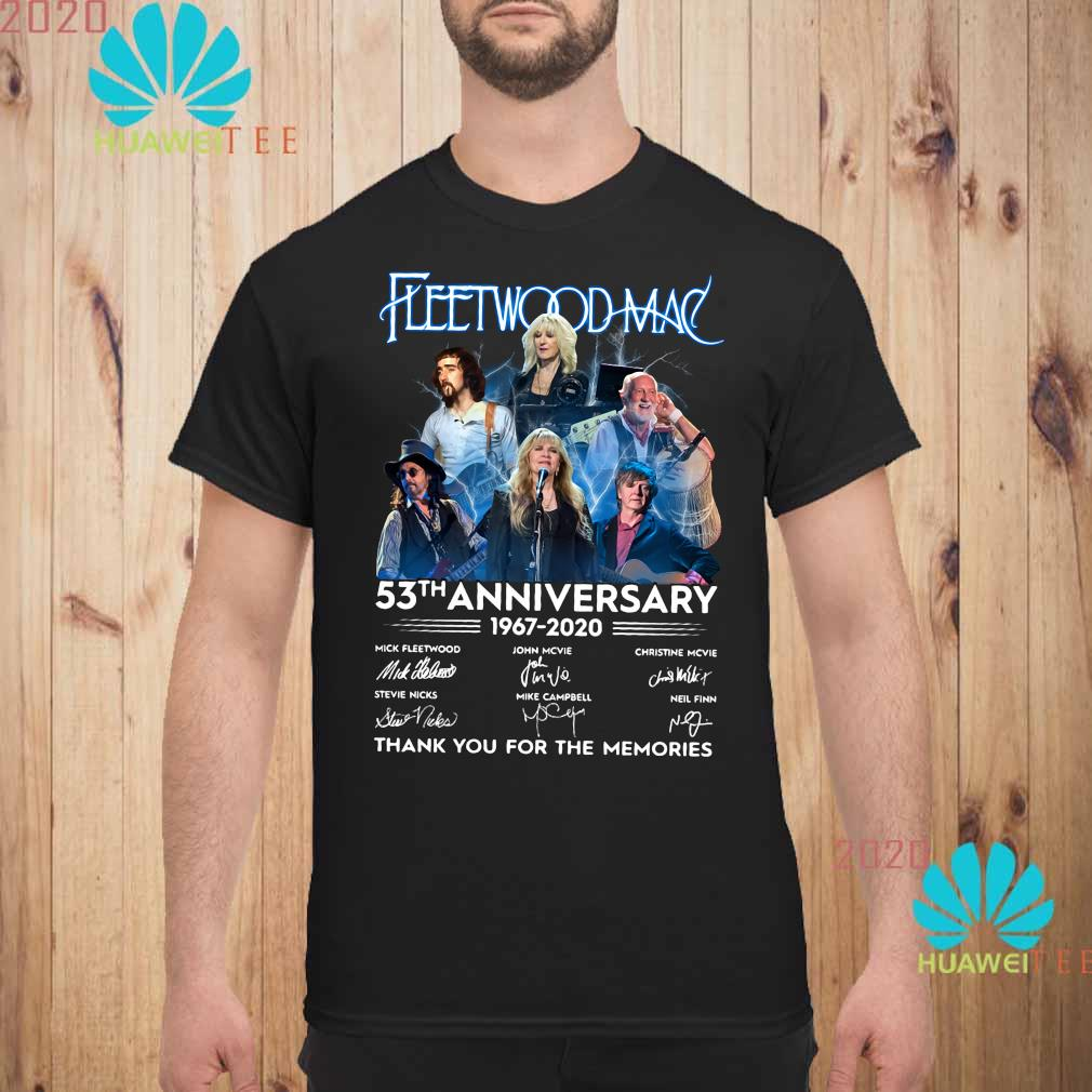 Fleetwood Mac 53th Anniversary 1967 2020 Thank You For The Memories Shirt unisex