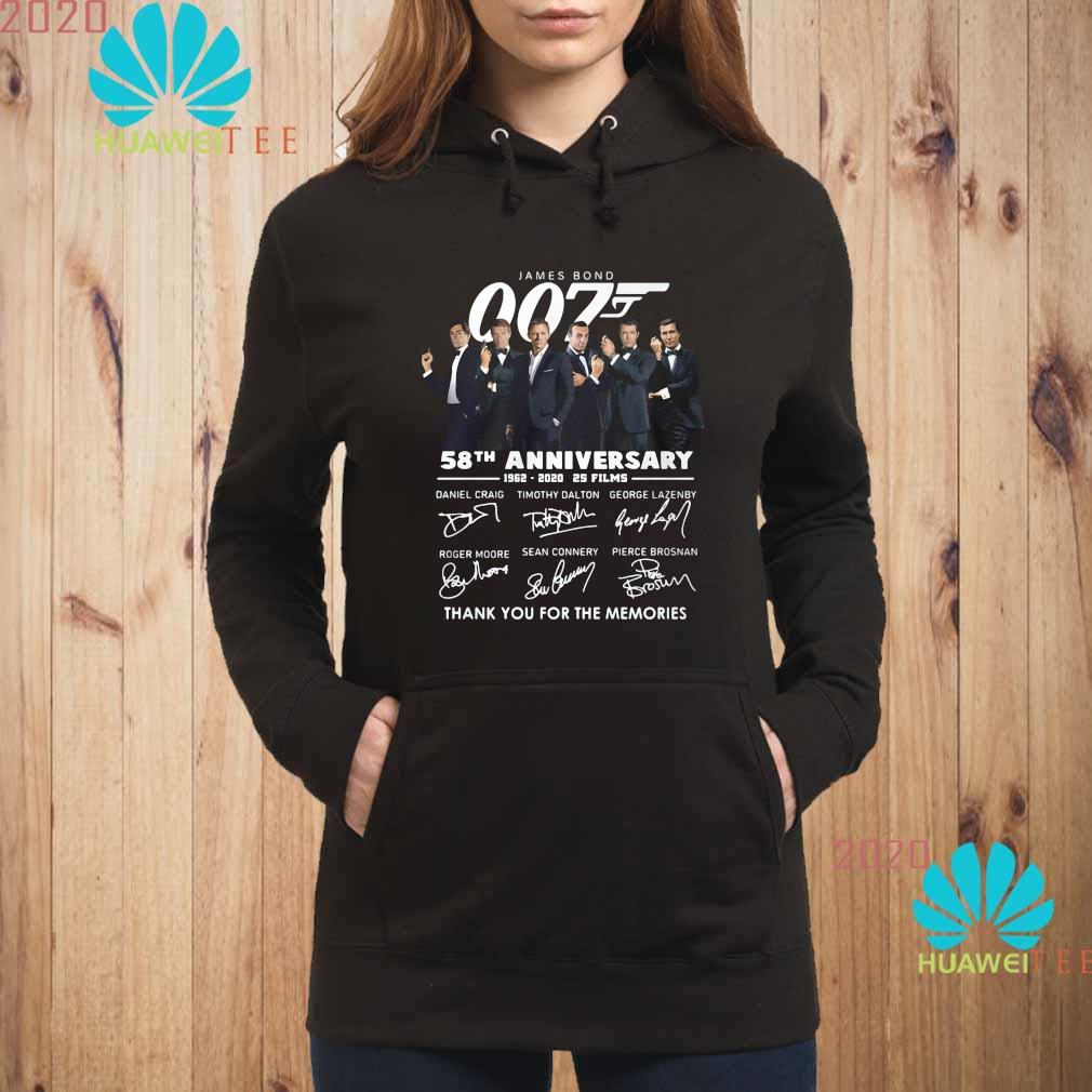 James Bond 007 58th Anniversary 1962 2020 Thank You For The Memories Signatures Shirt hoodie