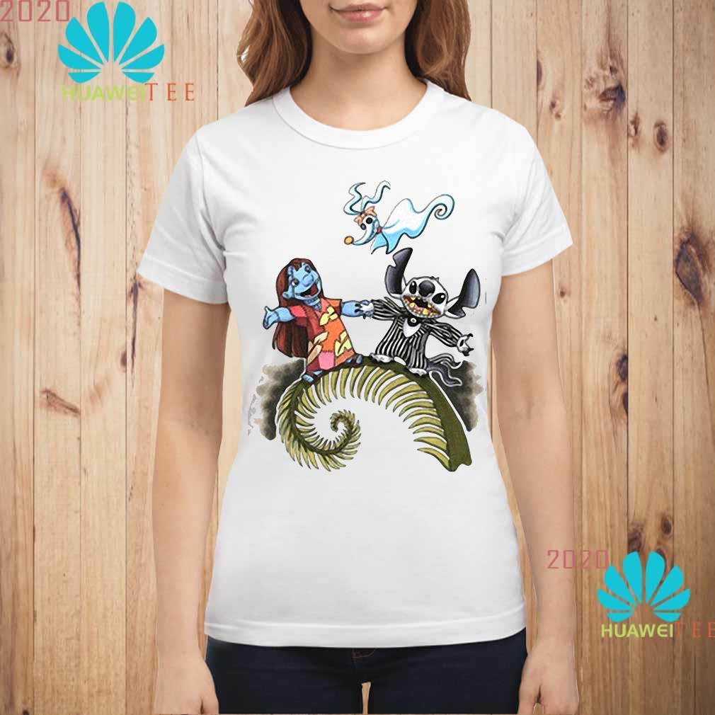 Lilo And Stitch As Jack And Sally Zero Shirt ladies-shirt