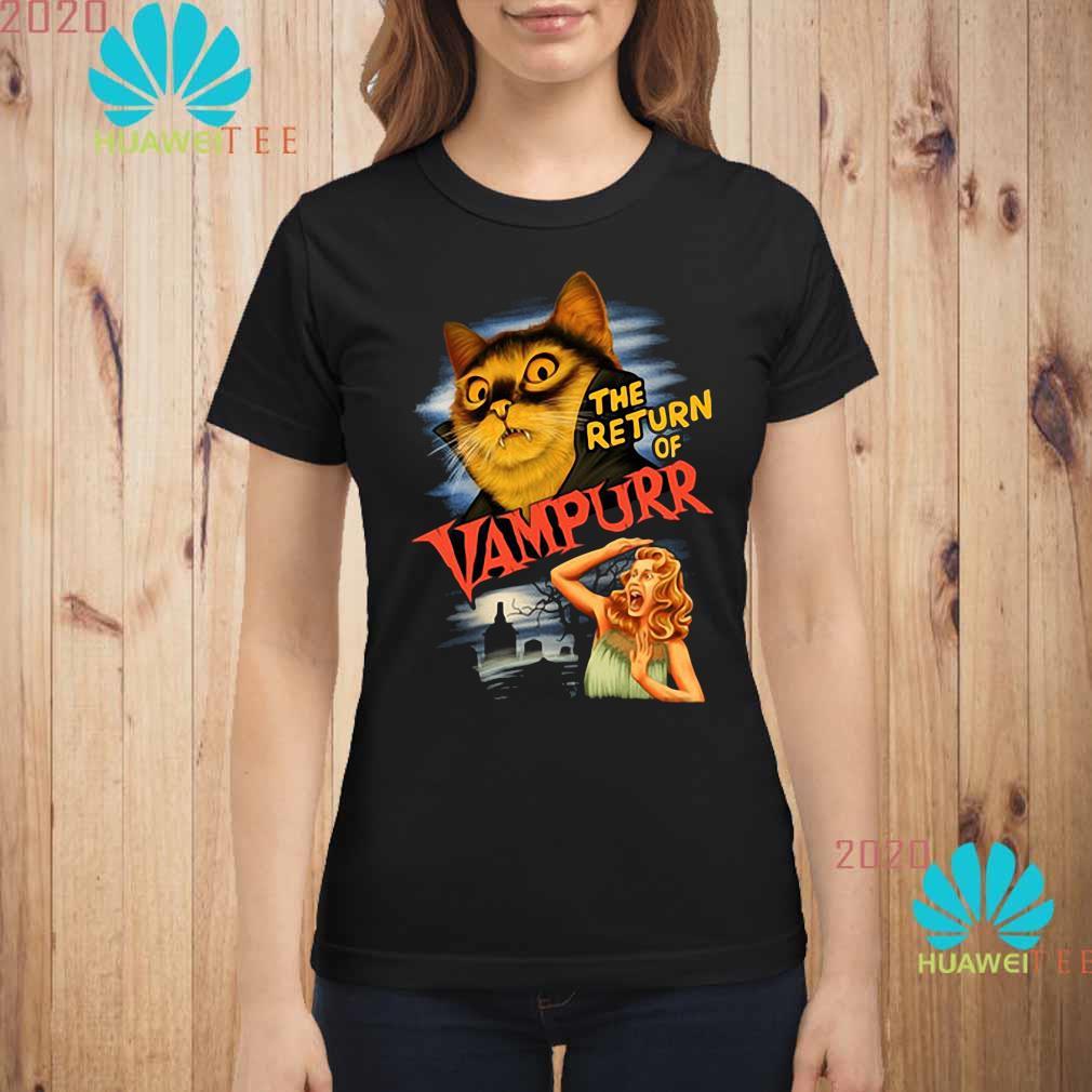 The Return Of Vampurr Cat Vampire Shirt ladies-shirt